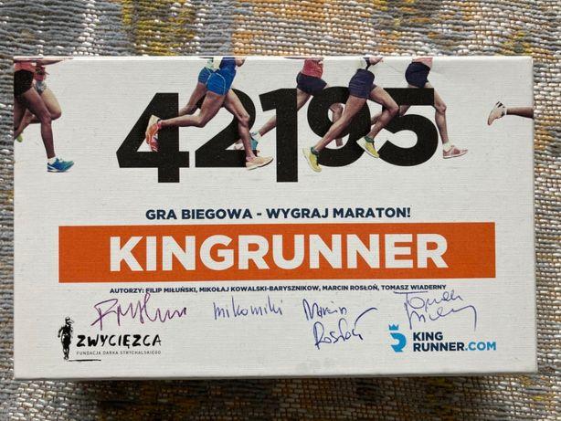 Kingrunner gra planszowa z autografami twórców