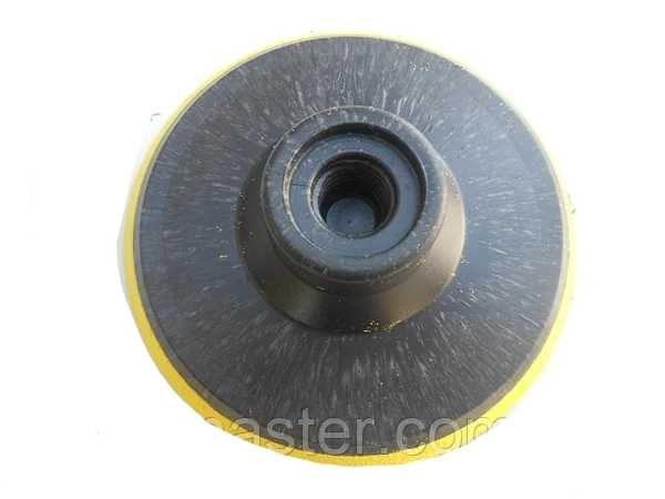 Опорная тарелка для болгарки насадка под липучку мягкая D 100 мм
