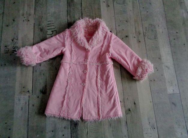 Płaszczyk, płaszcz futerko roz. 104 cm.