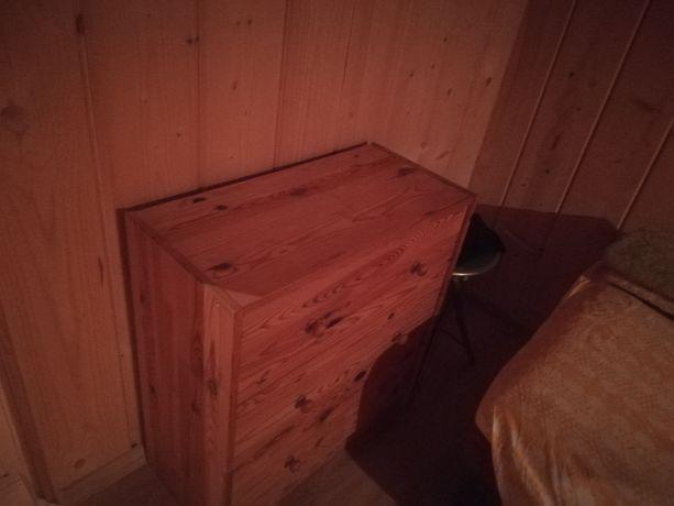 Komoda Drewniana Sosnowa70cm wysok62szer.30cm grubości