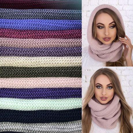 Хомут шарф цвет розовый