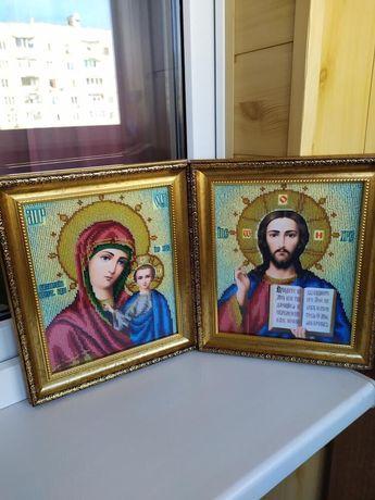 Иконы из бисера, венчальные иконы