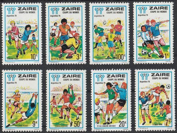 znaczki Zair - 1978 - MŚ Mundial Argentyna sport - czyste **