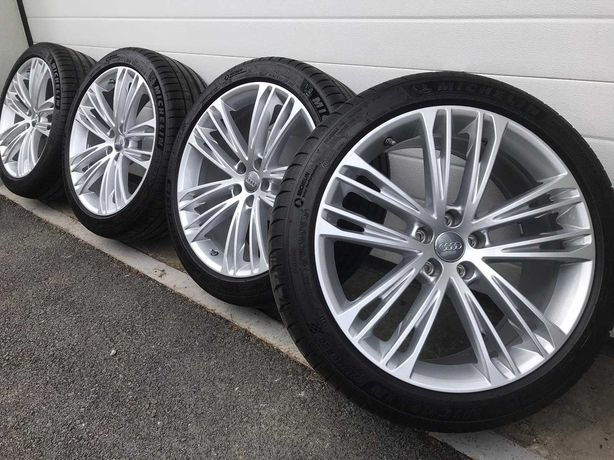 """NOWE OPONY Oryginalne Felgi Koła Audi 20"""" A4 A5 A6 A7 A8 Q3 Q5 Q7"""