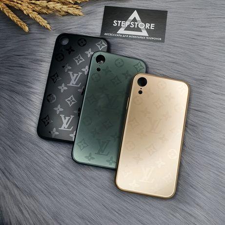 Чехол стеклянный LV Luis Vuitton Glass case iPhone 10 X Xs XR 11 pro