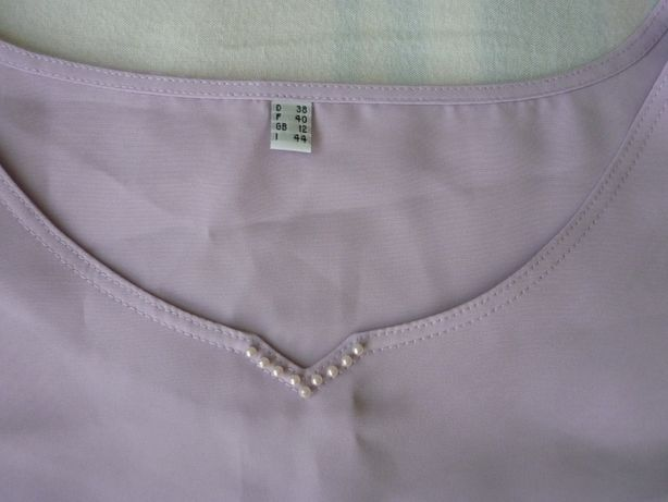 bluzka fioletowa pastelowa bez rękawa rozmiar L