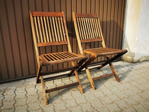 Krzesła ogrodowe tarasowe drewniane z Niemiec