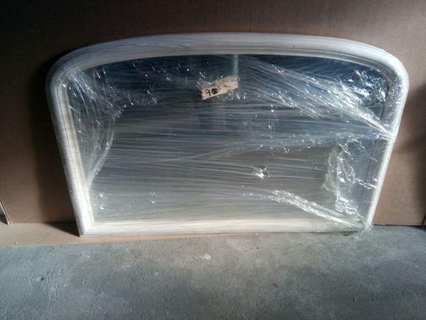 Espelho lacado branco para apoio de móvel aparador ou casa de banho