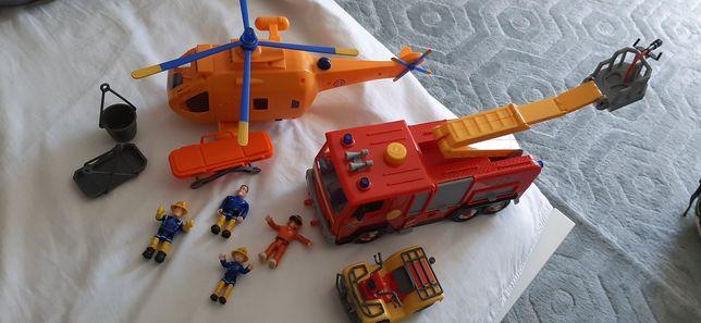 Bombeiro Sam - figuras e carros