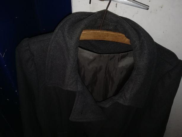 Szary płaszcz jesienny damski F&F