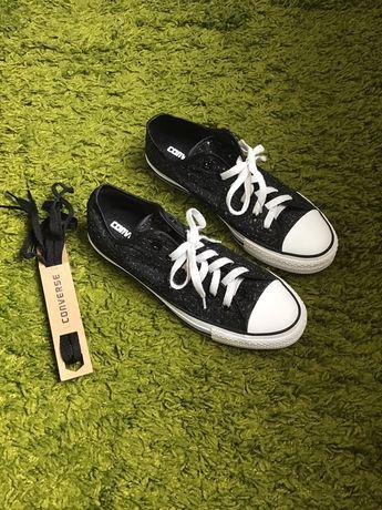 Оригінальні НОВІ жіночі кеди Converse 41 розмір чорні з блискітками