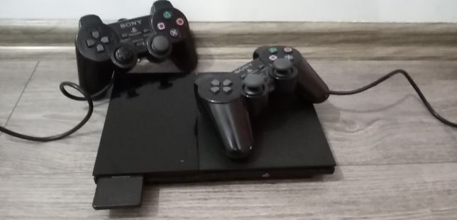 "Konsola PlayStation 2 Slim ""PS2 S"" + 2 pady + karta pamięci 8mb"