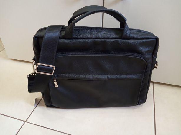 Кожаный мужской портфель. Сумка для ноутбука / документов
