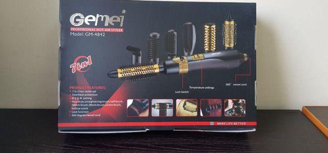 Профессиональная фен-расческа новый черно-золотой Новый фен-стайлер