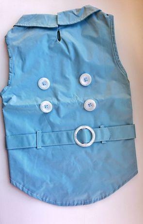 Яркий голубой осенний весенний дождевик для собак