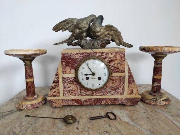 Stylowy kominkowy zegar z XIX WIEKU SAMUEL MARTI