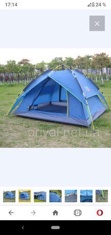 Палатка 4-местная Green Camp автоматическая (автомат) туристическая