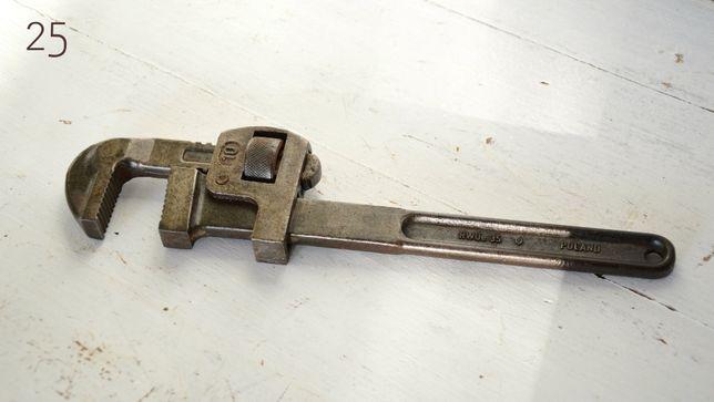 Duży stary uniwersalny klucz nastawny dł 24 cm