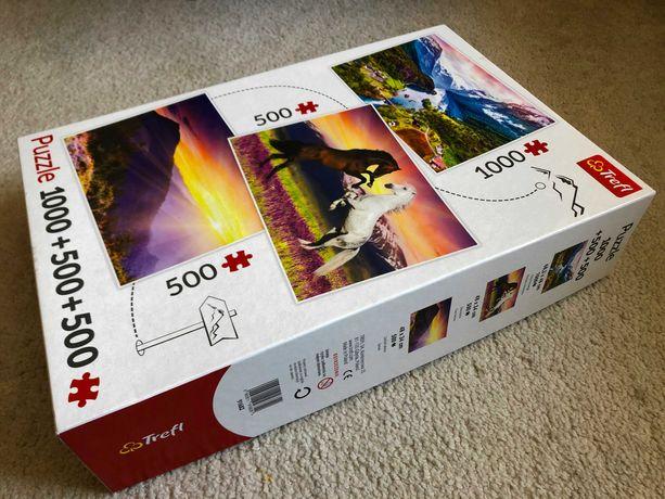Puzzle 1000 + 500 + 500 Trefl   super stan