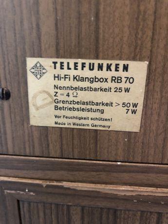 Glosniki kolumny Telefunken RB70.