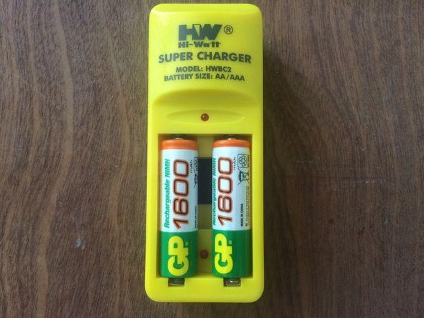 Зарядное устройство для аккумуляторных батареек Hi-Watt HWBC2.