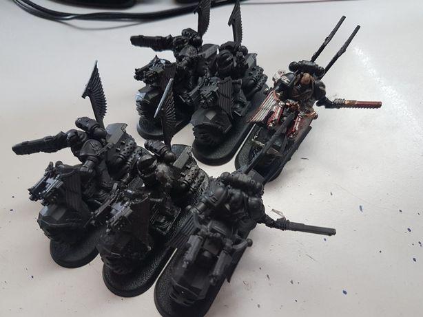 6x Bike SM Dark Angels Warhammer 40k