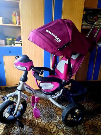Трехколесный велосипед Crosser One T1 AIR Фиолетовая фуксия