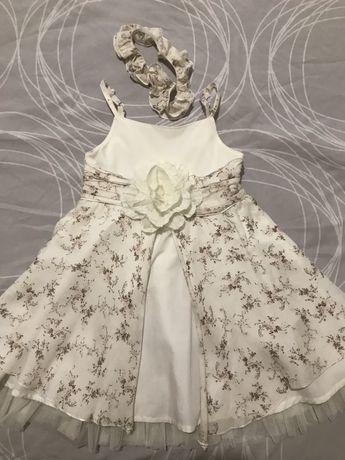 Платье нарядное плюс повязка на голову