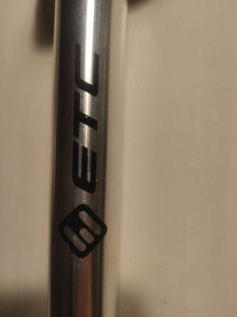 Sztyca wspornik siodła ETC srebrna aluminiowa 25.4 / 350 NOWA