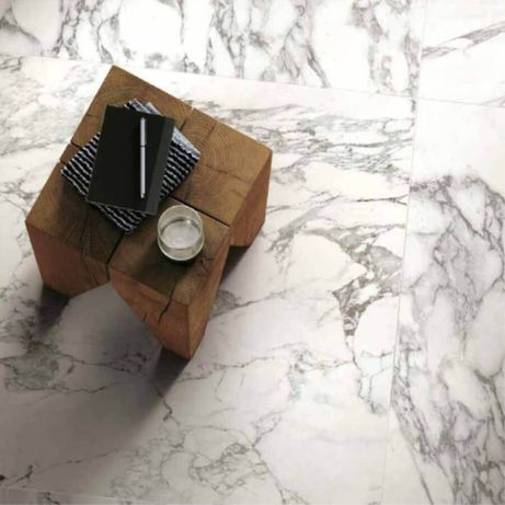 Płytki podłogowe Spieki kwarcowe Arabescato White matowy 80x80x0,6 cm