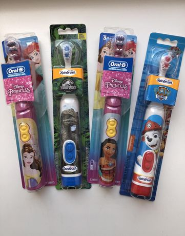 Дитяча електрична зубна щітка oral-b, arm&hammer