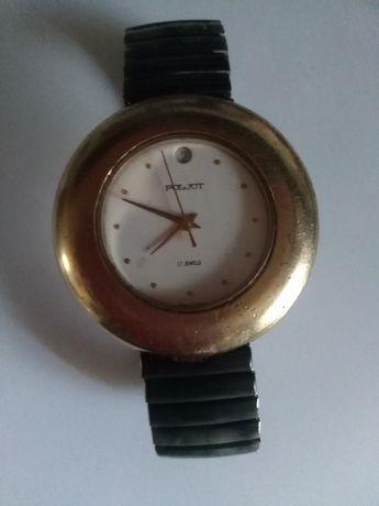 Часы наручные , механические  полет СССР золотое напыление 17 камней