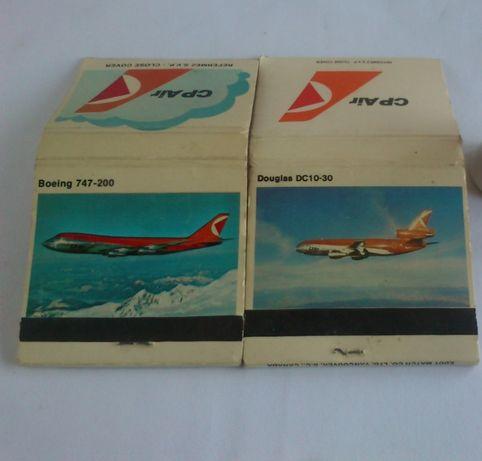 Aviação comercial-CP Air (carteiras de fósforos novas)