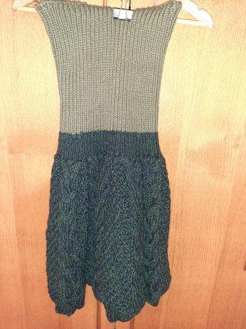 Платье-юбка вязанное. ручная работа