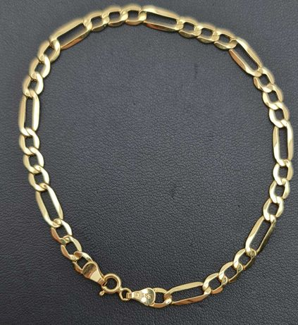Złota bransoletka FIGARO P585 2,44g 20,5cm LOM95