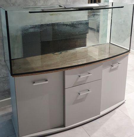 Akwarium profilowane 405 litry z szafką i żwirkiem