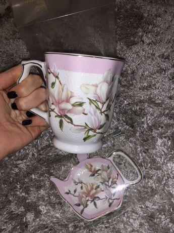 Нова кружка чашка з кришкою набір дві кружки чайник