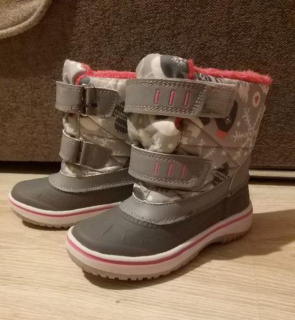 Dziewczęce buty zimowe roz. 25