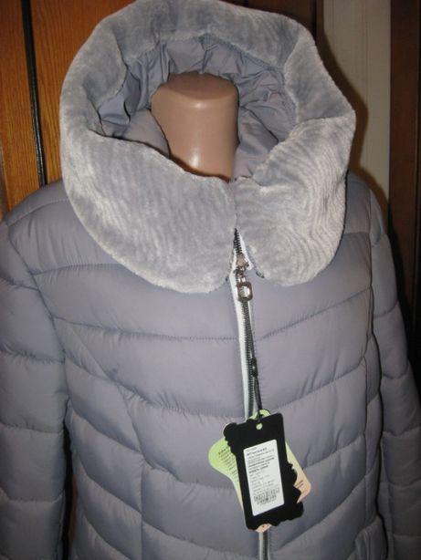 Куртка легкая теплая. Пуховик осень-зима. удлиненный молодежный,р 56