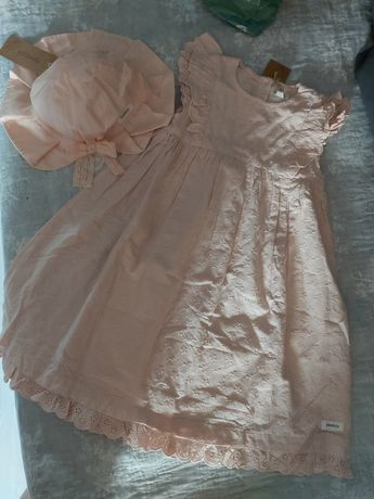 Newbie 110-116 sukienka kapelusz 52-54