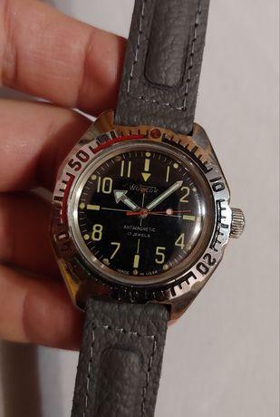 """Часы """"Восток-Амфибия"""" в нерж.корпусе антимагнитные 1980-е года ссср."""