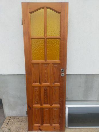 Drzwi sosnowe drewniane szer 60 cm, lewe, prawe, drewno, Poznań