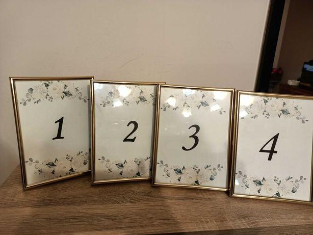 Numerki na stół 1, 2, 3, 4