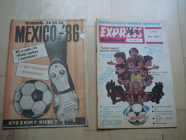 EXpress ilustrowany MUNDIAL Mexico 86