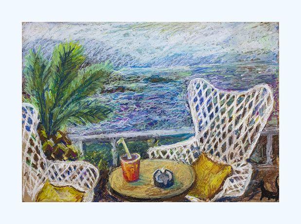 Кушадаси «Кінець сезону», Туреччина, морський пейзаж, пастель