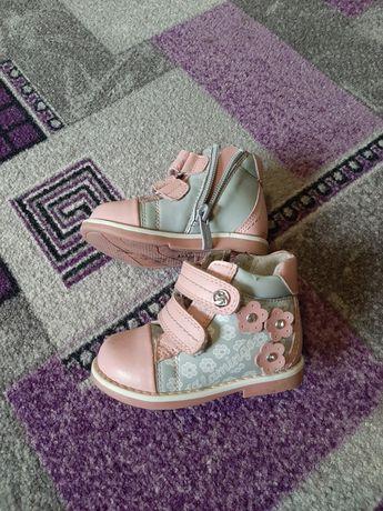 Ботинки детские, кожаные