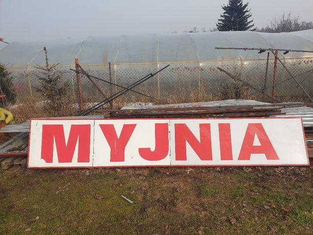 """Reklama podświetlana """"MYJNIA"""""""