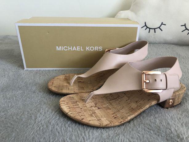 Sandały Michael Kors London Thong Block Heel