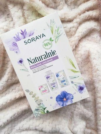 Kosmetyki nowy zestaw krem do twarzy, płyn micelarny maseczka Soraya