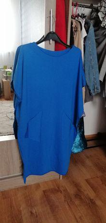 Sukienka kolor chabrowy r44